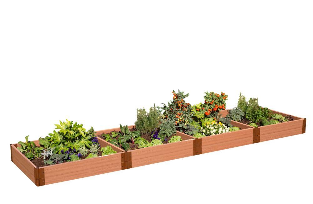 Jardin surélevé 2in 4x16ft 2 Level