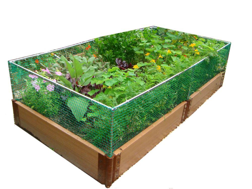 Raised Garden 2 Inch 4x8ft 2 Level c/w Animal Barrier