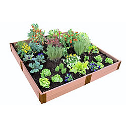 Frame It All Tool-Free Classic Sienna Raised Garden Bed  8 ft. x 8 ft. x 11 inch - 2 inch profile