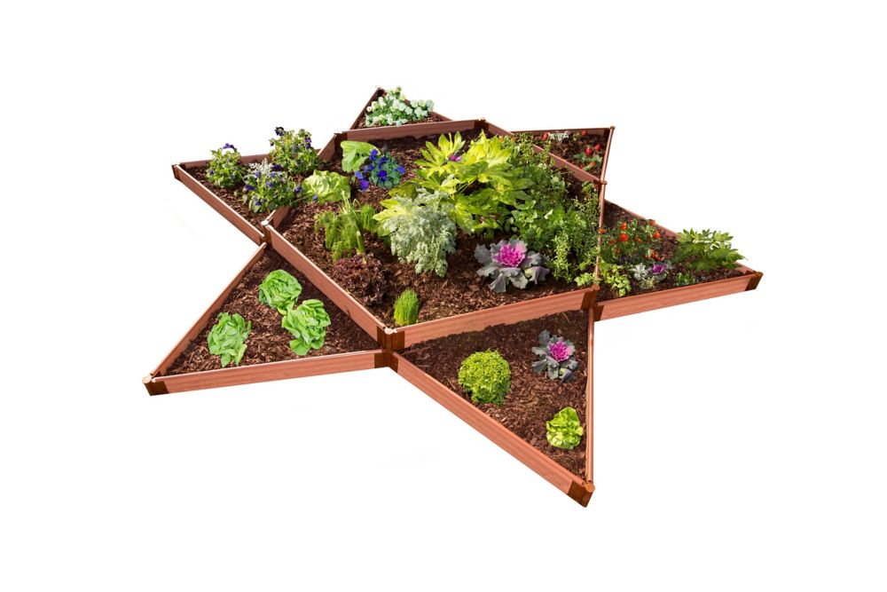 Frame It All Tool-Free Classic Sienna Raised Garden Bed Garden Star 12 ft x 12 ft x 11 inch  2 inch profile