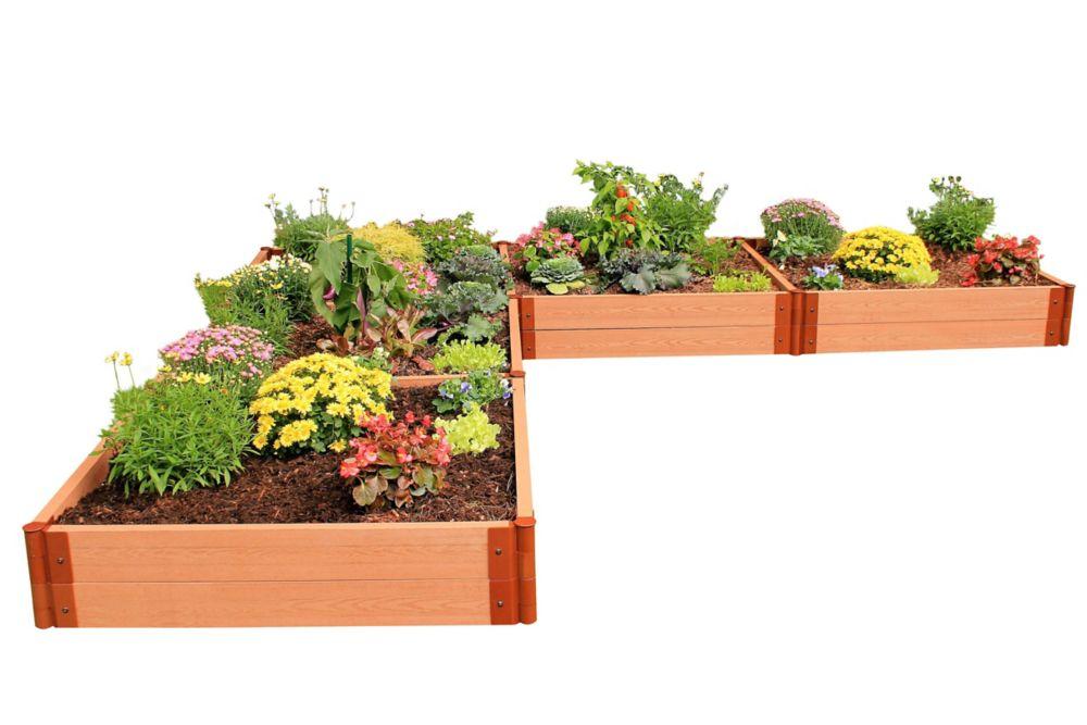 Jardin surélevé L-En forme de 2in 12x12ft 2 Level