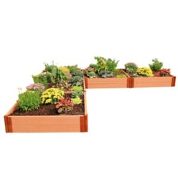 Frame It All Tool-Free Classic Sienna Raised Garden Bed 'L' Shaped 12 ft. x 12 ft. x 11 inch  2 inch profile
