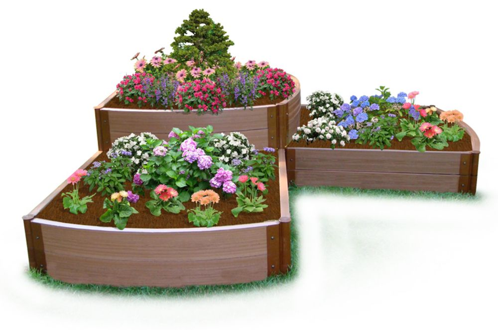 Jardin surélevé Cascade de Split 2-Level 2in