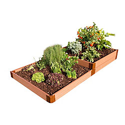 Frame It All Tool-Free Classic Sienna 4 ft. x 8 ft. x 11-inch Raised Terraced Garden Bed with a 2-inch Profile