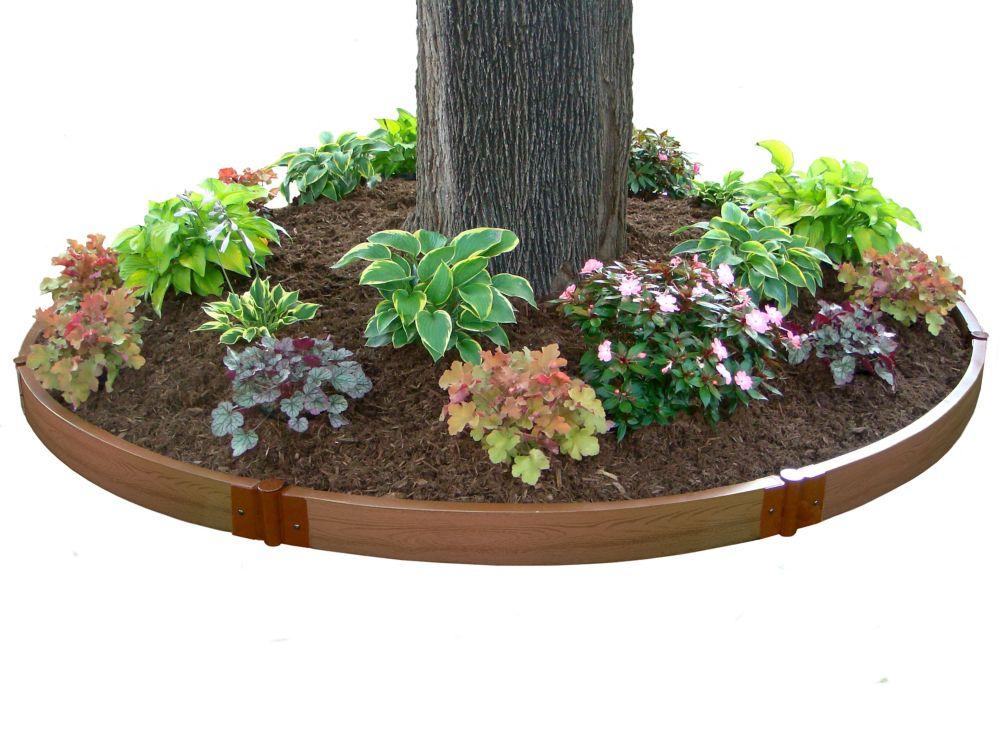 Raised Garden Tree Ring 2 Inch 10.5ft Dia 1 Level
