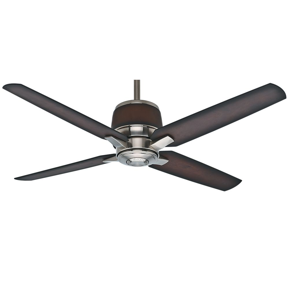 Casablanca Aris 54 Inch  Brushed Nickle Indoor Ceiling fan with 4 speed wall-mount control