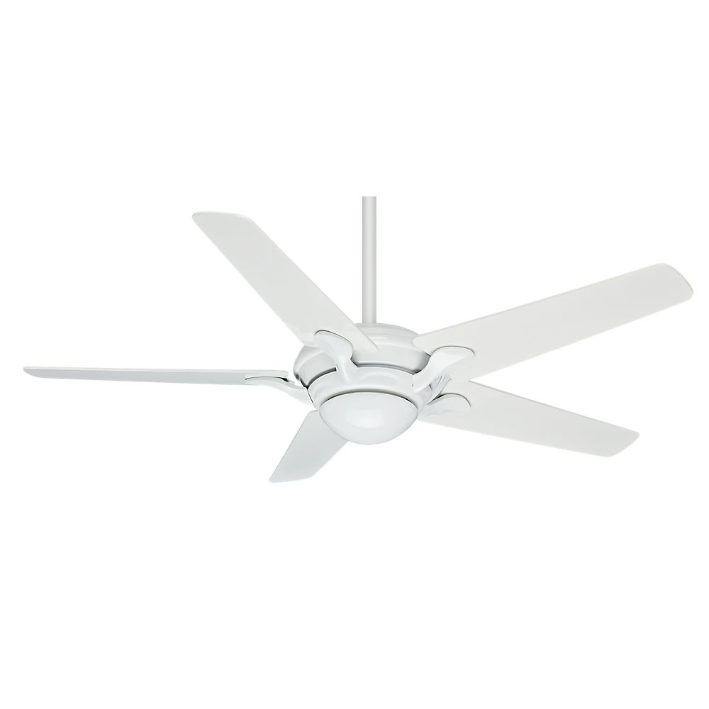 Casablanca Bel Air 56 Inch Snow White Indoor Ceiling Fan with 4 speed wall-mount control