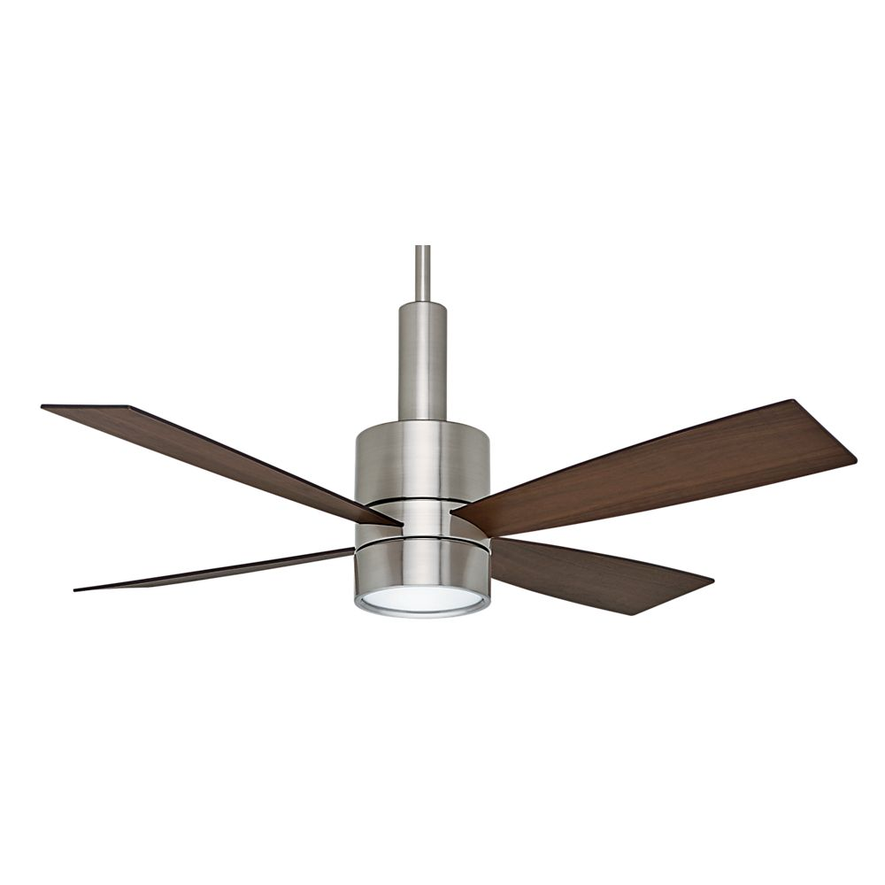 Casablanca Bullet 54 Inch  Brushed Nickle Indoor Ceiling Fan with 4 speed wall mount control