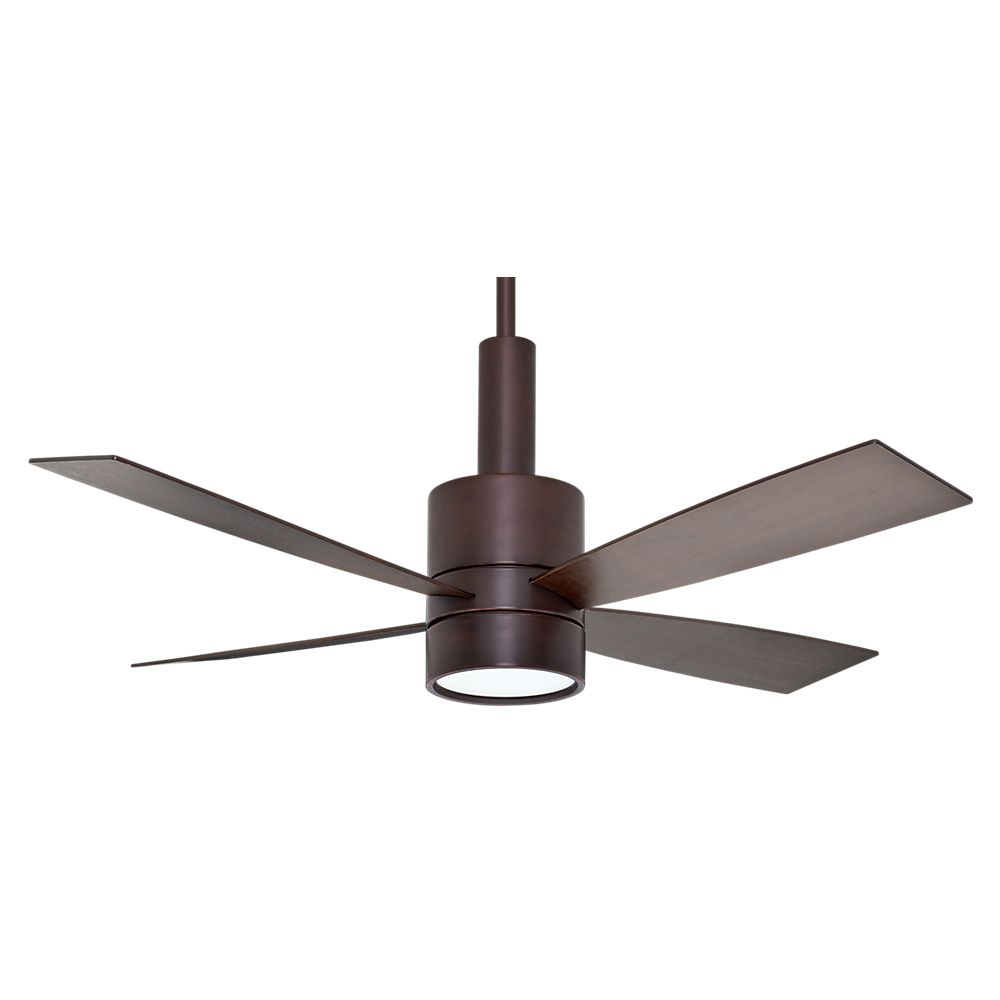 Casablanca Bullet 54 Inch  Brushed Cocoa Indoor Ceiling Fan with 4 speed wall mount control