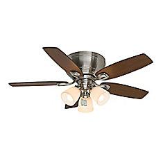 Ventilateur de plafond intérieur en nickel brossé Durant 44 pouces