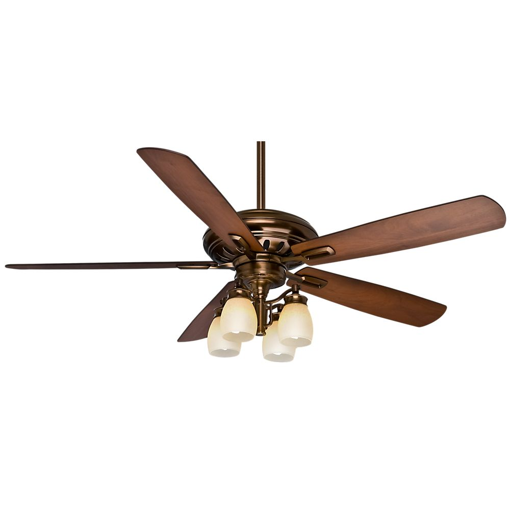 Casablanca Holliston Gallery 60 Inch  Bronze Patina Indoor Ceiling fan with 4 speed wall control