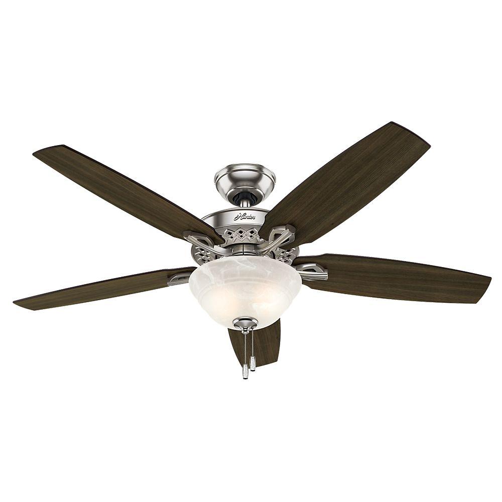 Hunter Heathrow 52 Inch  Brushed Nickle Indoor Ceiling Fan