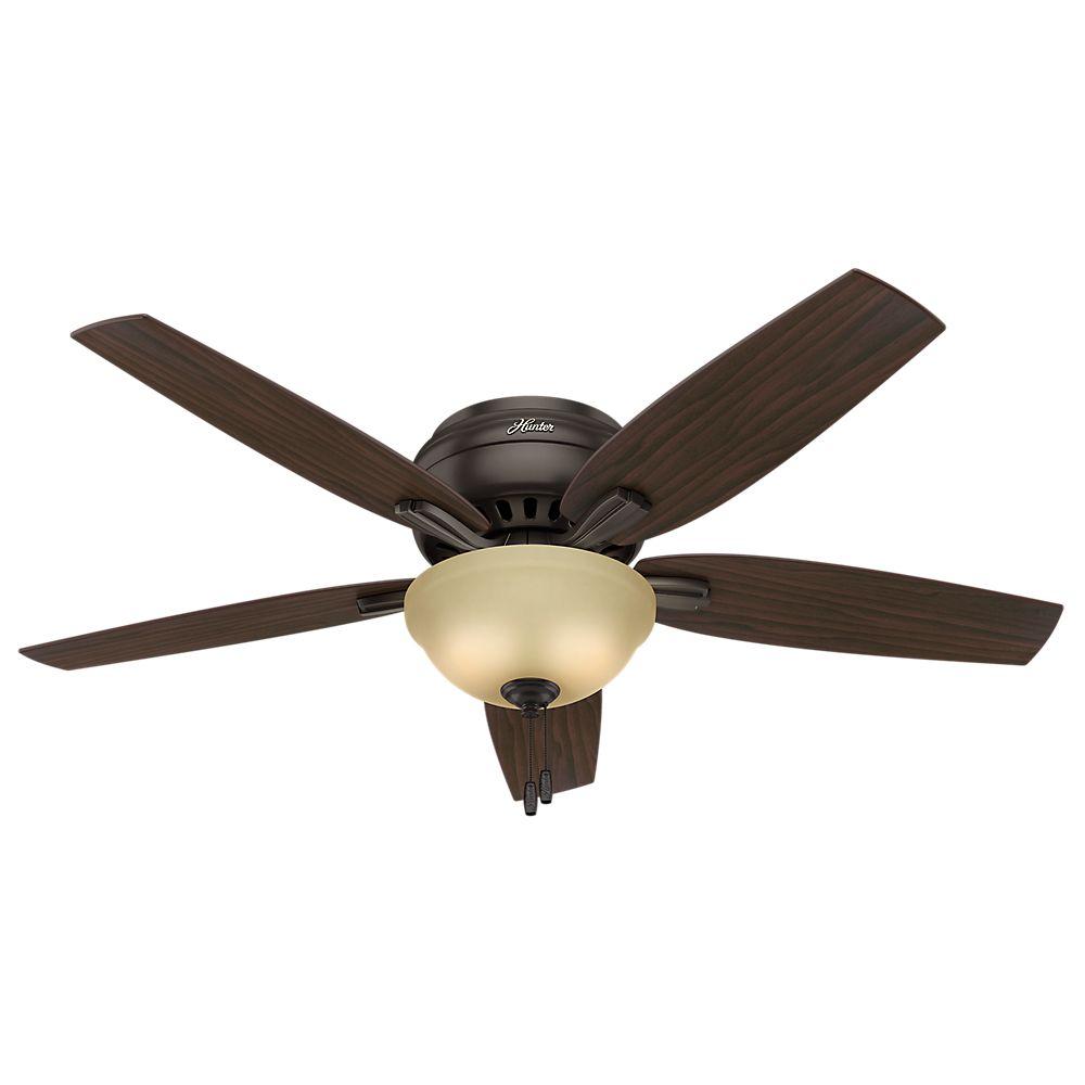 Hunter Newsome 52 Inch  Low Profile Premier Bronze Ceiling Fan