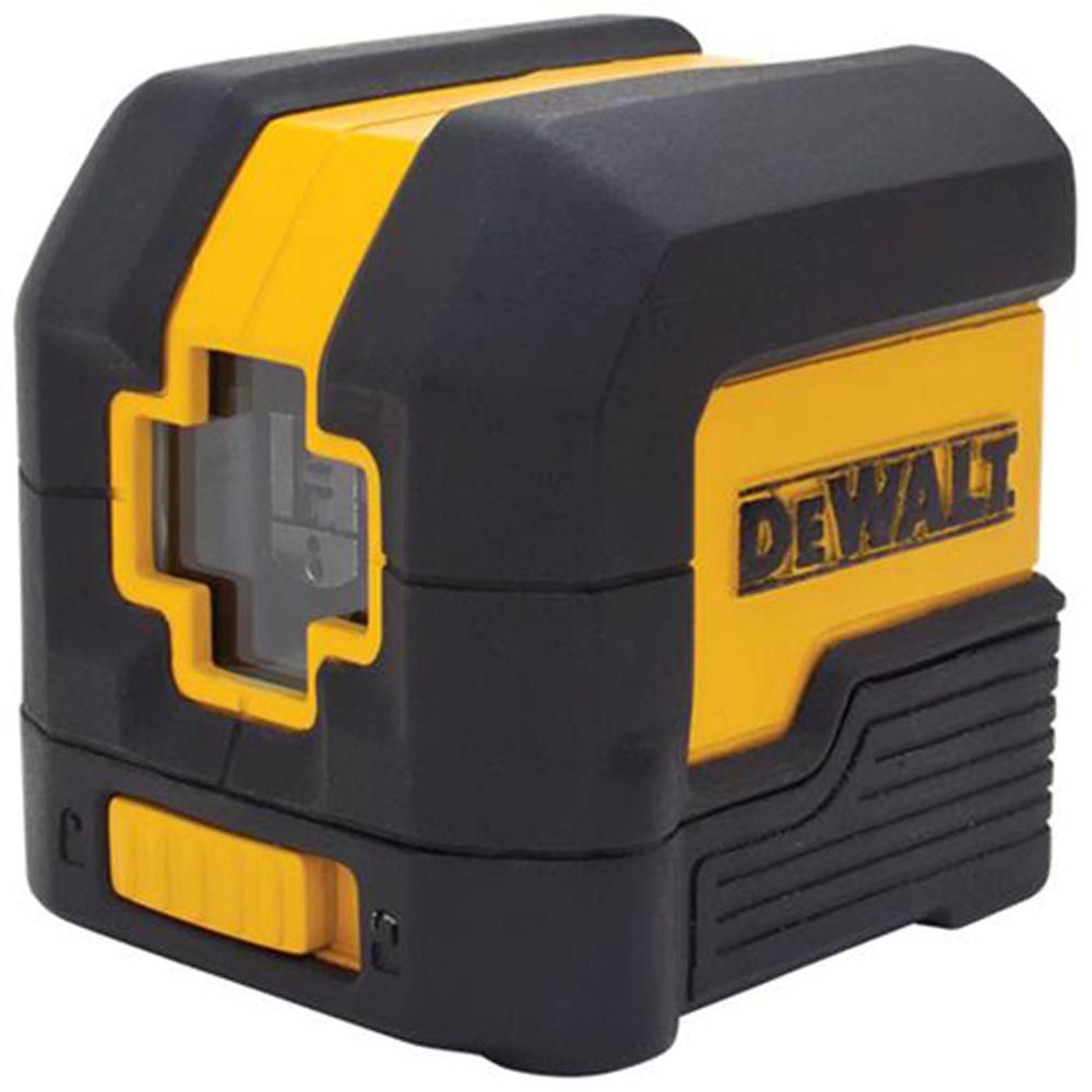 Dewalt 50 ft. Red Self-Leveling Cross Line Laser Level with (2) AA Batteries & Case DW08801