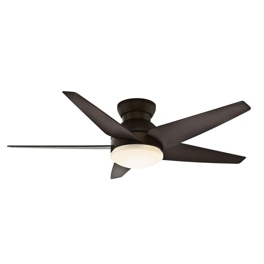Casablanca Isotope 52 Inch Indoor Brushed Cocoa Bronze Ceiling Fan With 4 Sd Wall Mount Remote The Home Depot Canada