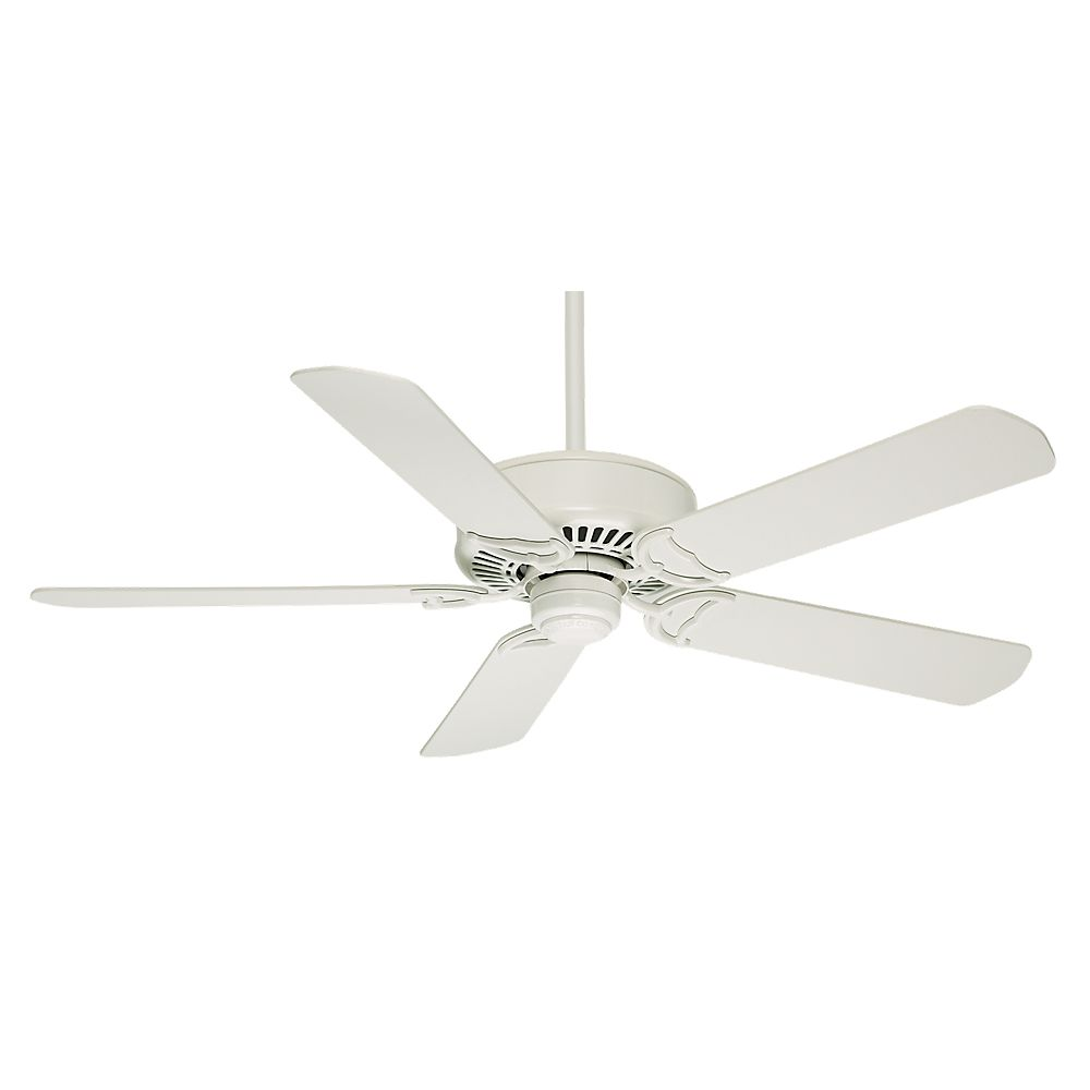 44 White Downrod Close Mount Indoor Outdoor Tropical: Hampton Bay Sidewinder 54-inch Indoor Ceiling Fan In