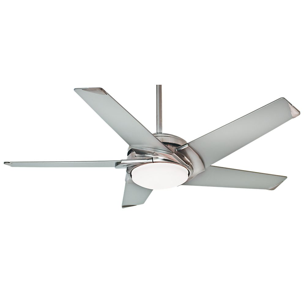 Stealth- 54 Inch  Brushed Nickel w/ Platinum blades- 4 speed wall control
