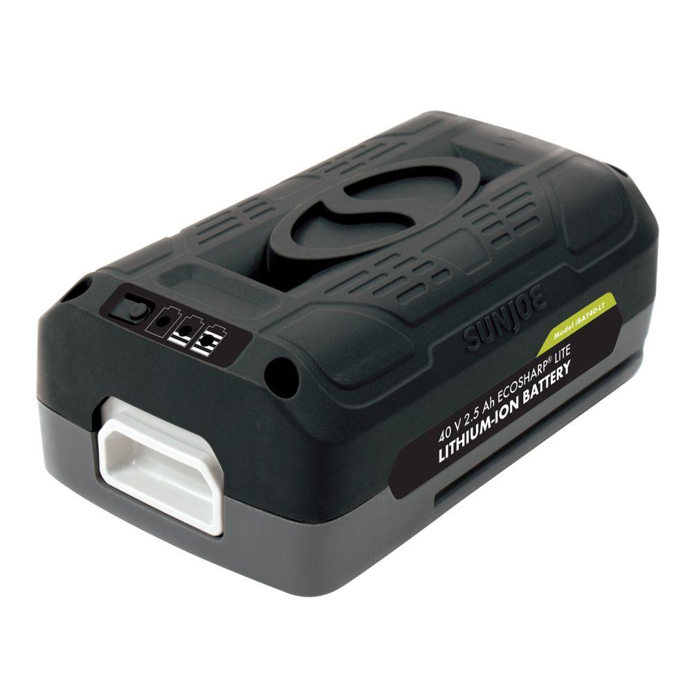 Batterie au lithium-ion 40V 2,5Ah EcoSharp<sup>®</sup> PRO iON Snow Joe + Sun Joe