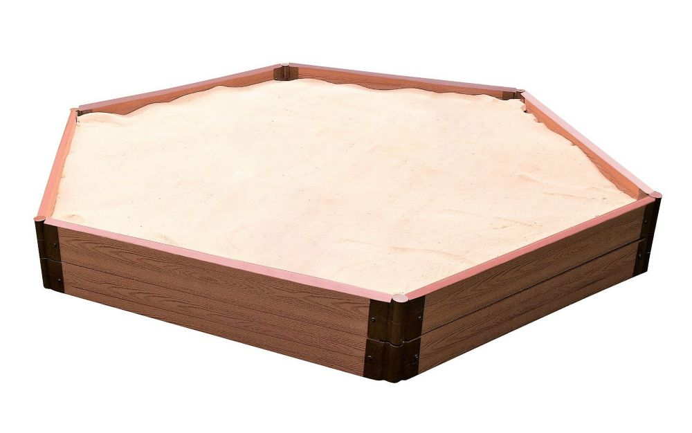 Sandbox Hexagon 2 Inch 7x8ft 2 Level