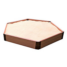 Two Inch Series 7 ft. x 8 ft. x 11 inch Composite Hexagon Sandbox Kit