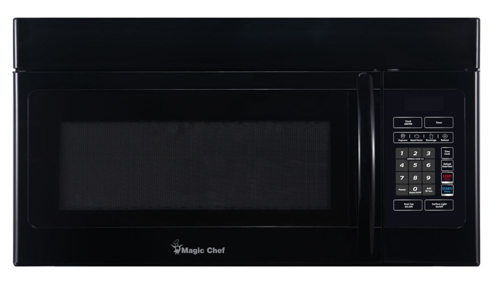 Magic Chef 1 6 Cu Ft Over The Range Microwave Black