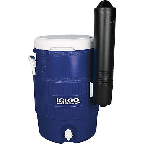 Glacière avec distributeur de gobelets de 19 L d'Igloo - Bleu minuit