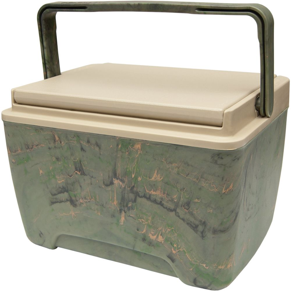 Sportsman Hard Sided Cooler, 8 Litres - Camo/Tan