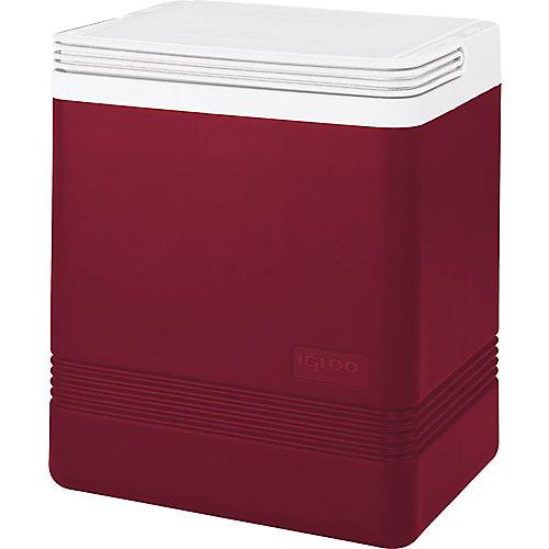 Glacière rigide Legend d'Igloo - 16 litres - Rouge diablo-Blanc