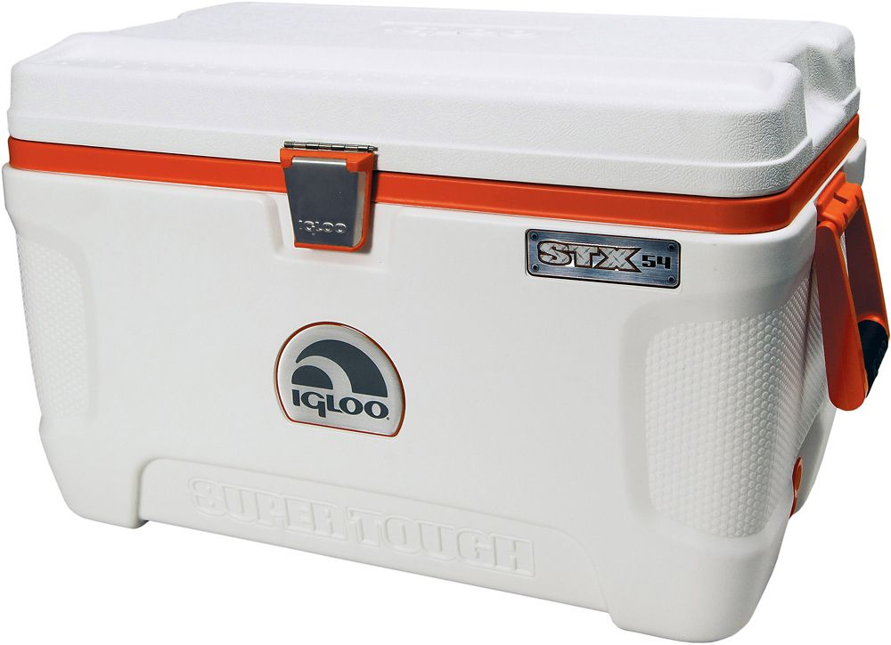 Super Tough Hard Sided Cooler, 51 Litres - White