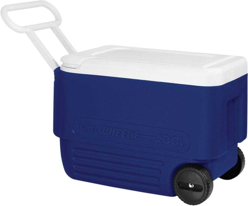 Wheelie Wheeled Hard Shell Hard Sided Cooler,36L - Majestic Blue/White