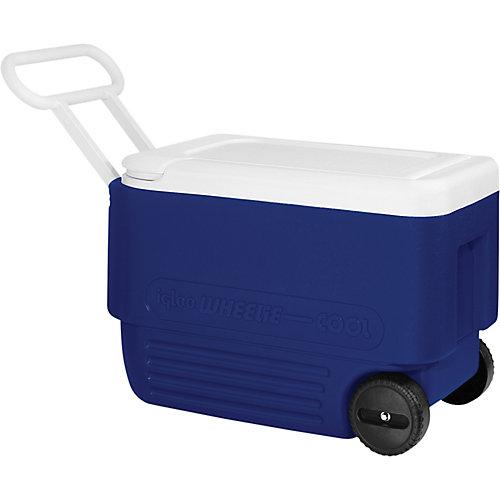 Glacière rigide à roulettes Wheelie d'Igloo - 36 litres - Bleu majestueux-Blanc