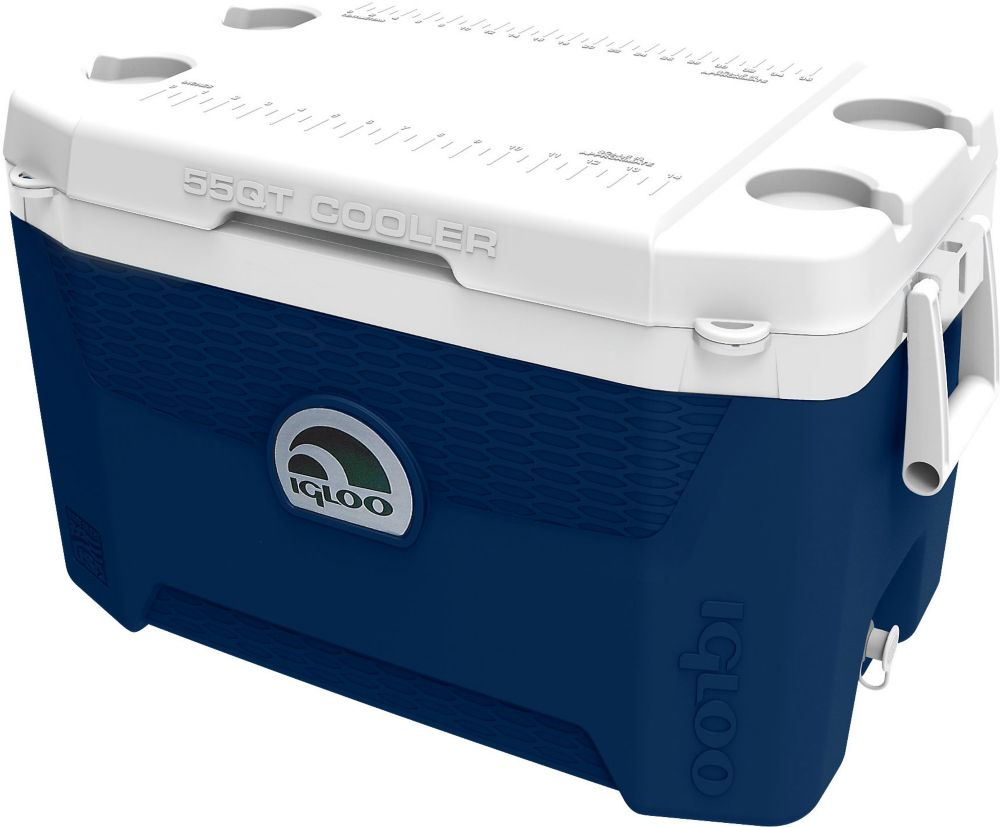Quantum Hard Sided Cooler, 52 Litres - Midnight Blue/White