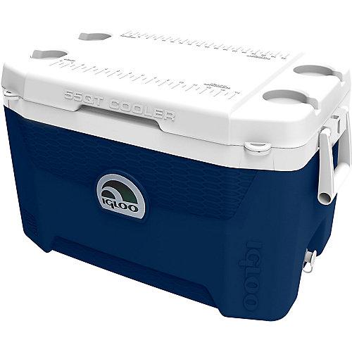 Glacière Quantum d'Igloo - 52 litres - Bleu minuit-Blanc