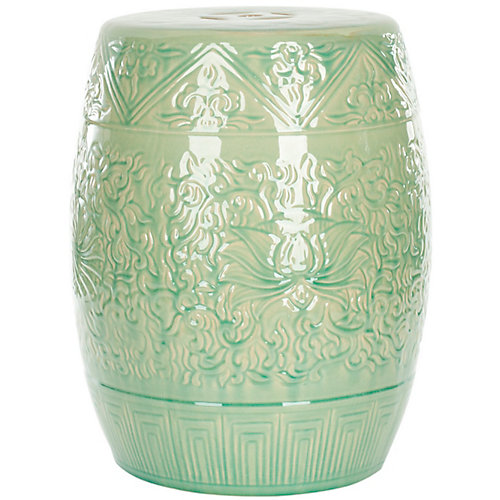 Lotus Patio Stool in Lime Green
