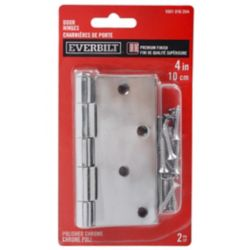 Everbilt 4 inch Door Hinge (2-Pack) Polished Chrome