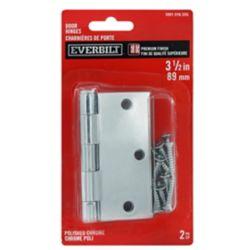 Everbilt 3.5 inch Door Hinge (2-Pack) Polished Chrm