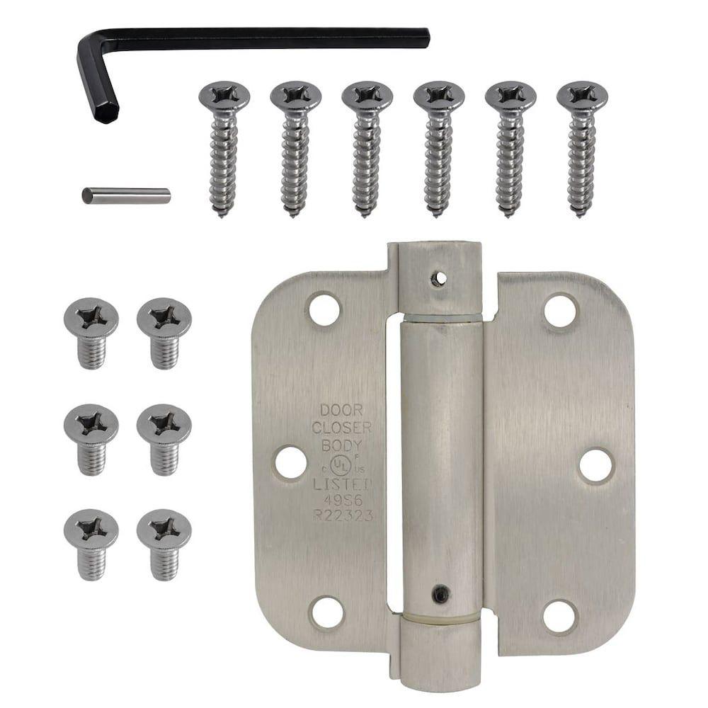 Everbilt 3.5 inch 5/8 inch Adjust Spring Hinge Sn