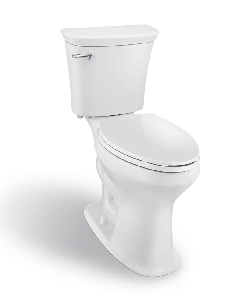Toilette AIO à haute efficacité et cuve allongée SuperClean de 4,8 LPC