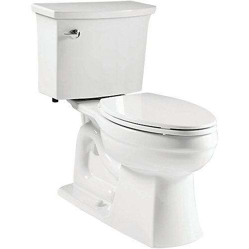 Elmbrook 2-Piece Single-Flush Elongated Bowl Toilet in White