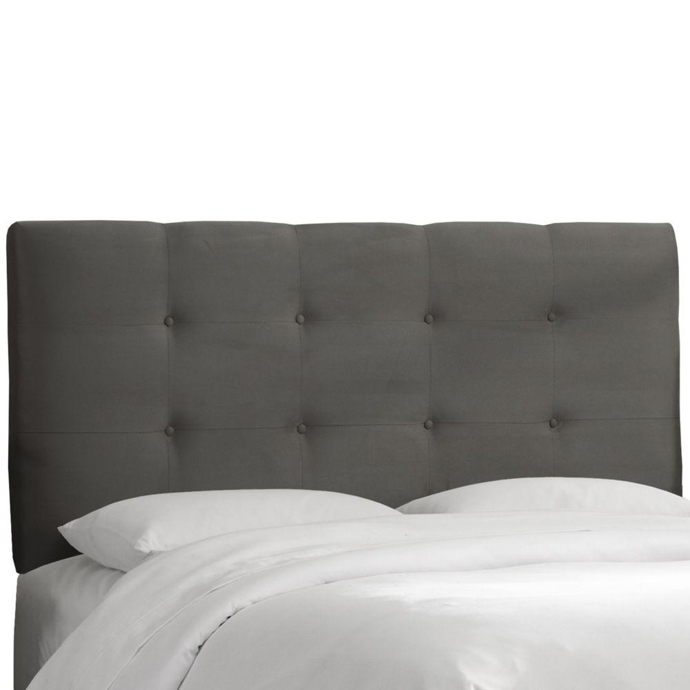 Tête de lit rembourrée roi en premier charbon