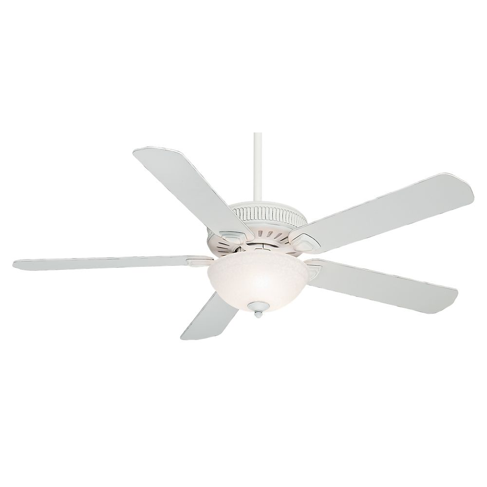 Casablanca Ainsworth Gallery  60 Inch  Cottage White Ceiling Fan with  4 speed wall mount control