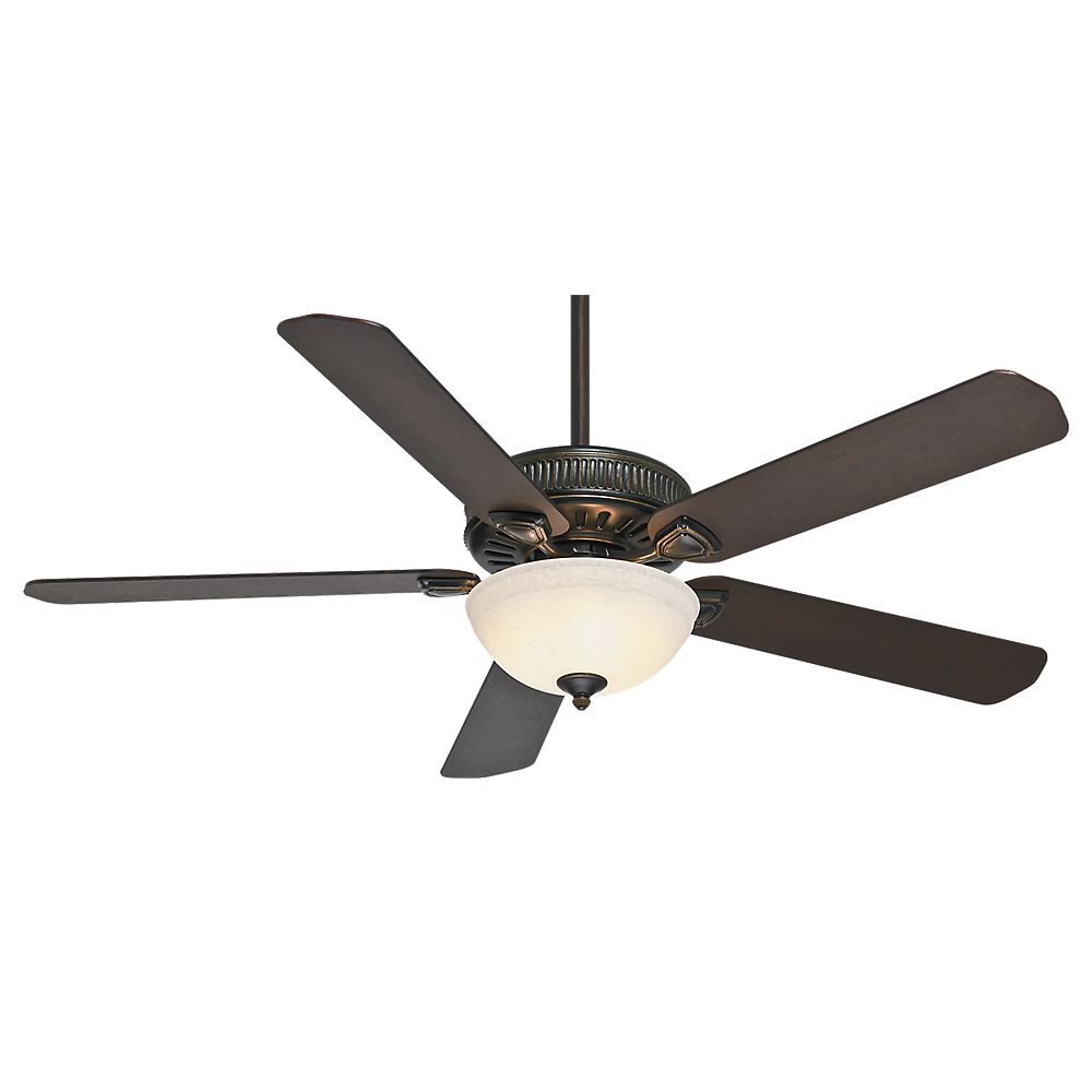 Casablanca Ainsworth Gallery 60 Inch  Basque Black Ceiling Fan with 4 speed Wall-Mount Control