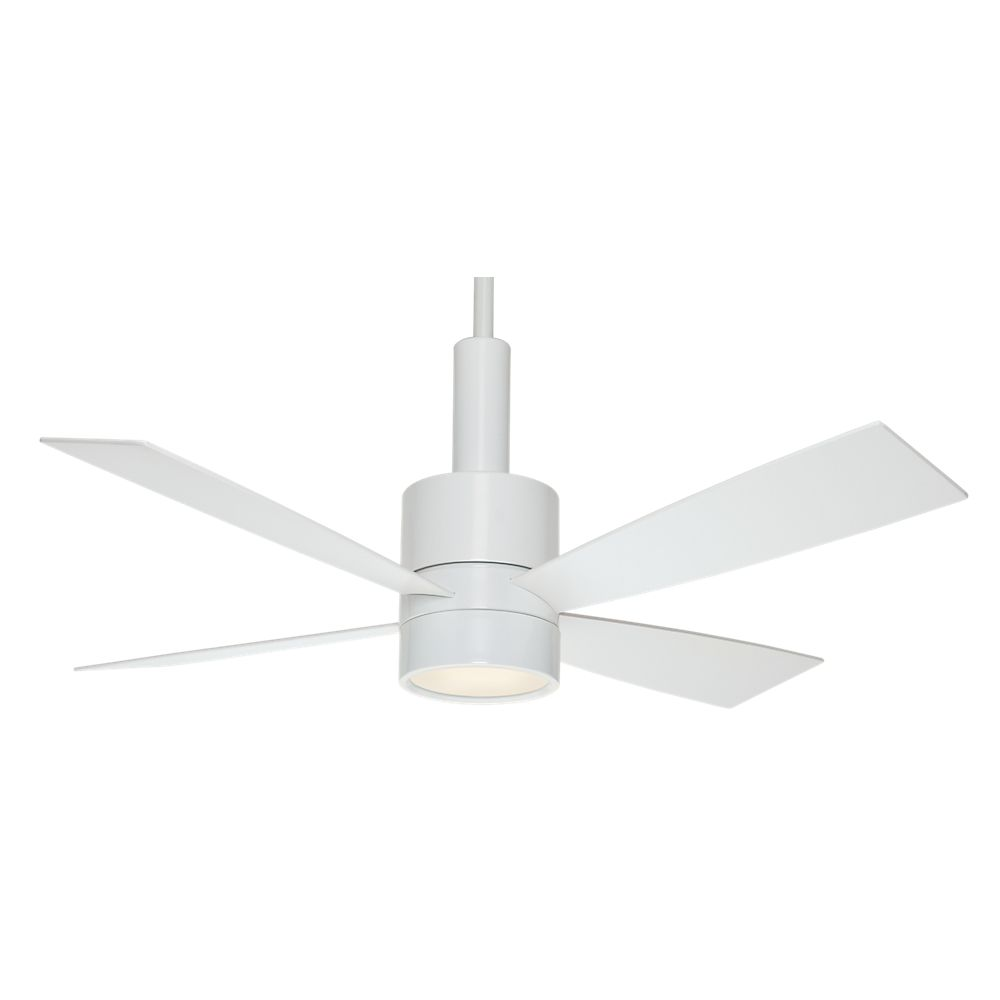 Casablanca Bullet 54 Inch  Snow White Indoor Ceiling Fan with 4 speed wall mount control