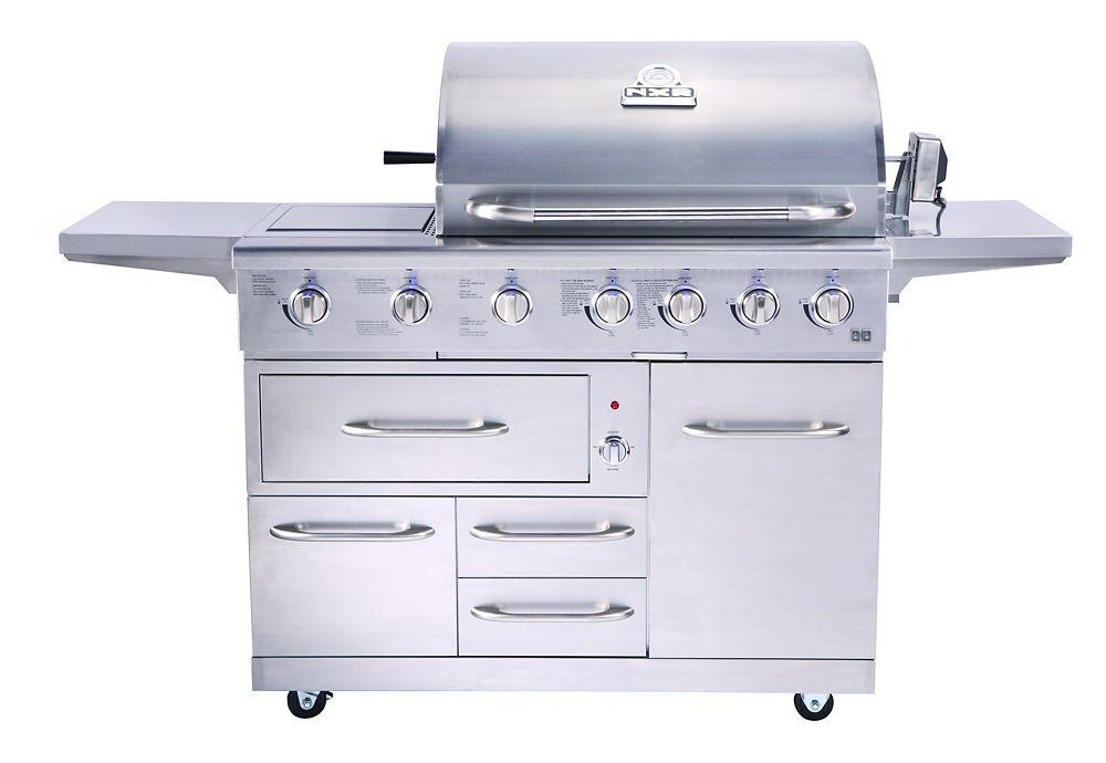 NXR 7-Burner 80,000-BTU Natural Gas Grill