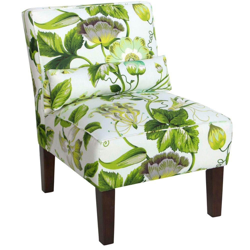 Armless Chair In Grandiflora Jardin