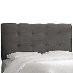 Skyline Furniture Tête de lit rembourrée california en premier charbon
