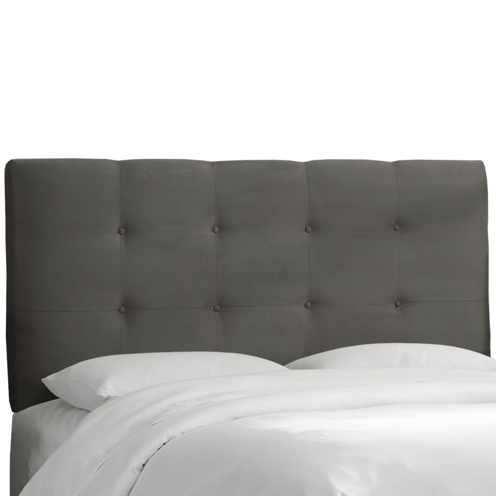 California King Tufted Headboard In Premier Charcoal