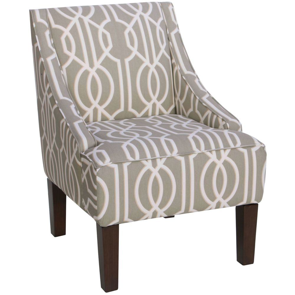 Swoop Arm Chair In Deco Slate