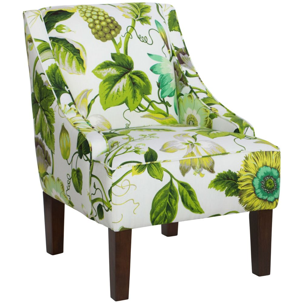 Swoop Arm Chair In Grandiflora Jardin
