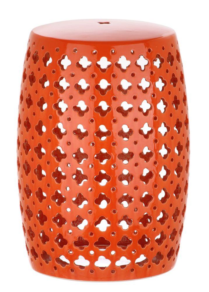 Fine Lacey Garden Stool In Orange Andrewgaddart Wooden Chair Designs For Living Room Andrewgaddartcom
